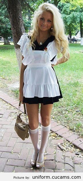 Фото в школьном платье